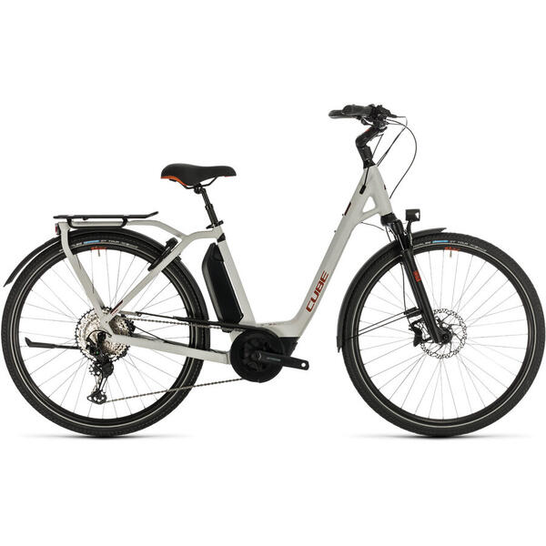 Bicicleta BICICLETA CUBE TOWN SPORT HYBRID EXC 500 EASY ENTRY Grey Red 2020