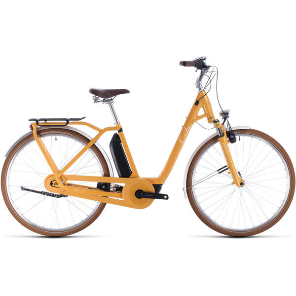 Bicicleta BICICLETA CUBE ELLA CRUISE HYBRID 500 EASY ENTRY Yellow White 2020