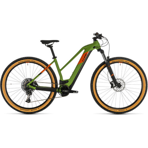 Bicicleta BICICLETA CUBE REACTION HYBRID EX 625 29 TRAPEZE Green Orange 2020