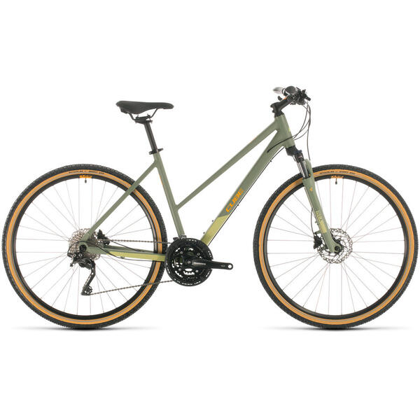 Bicicleta BICICLETA CUBE NATURE EXC   TRAPEZE Green Orange 2020
