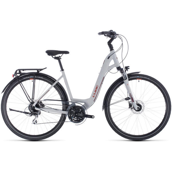 Bicicleta BICICLETA CUBE TOURING PRO EASY ENTRY Grey Orange 2020