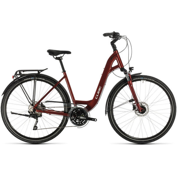 Bicicleta BICICLETA CUBE TOURING EXC EASY ENTRY Red Grey 2020