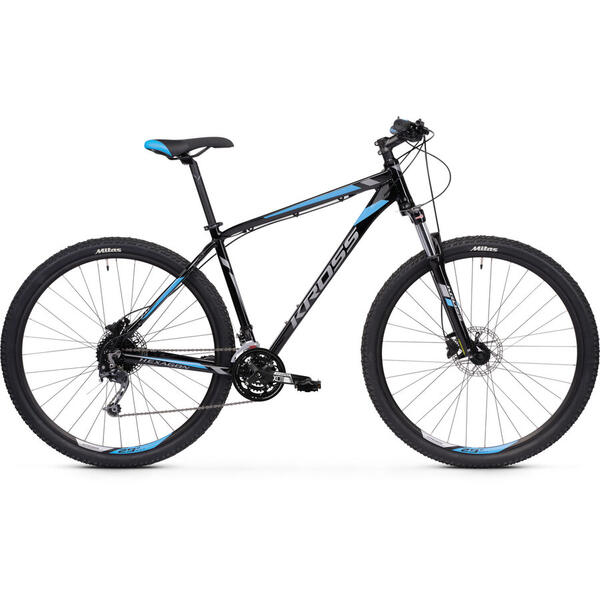 Bicicleta Bicicleta Kross Hexagon 7.0 29 S black-graphite-blue-glossy 2020